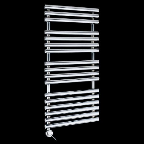 Cirtowelo Chrome Thermostatic Electric Towel Rail 1085mm high x 520mm wide