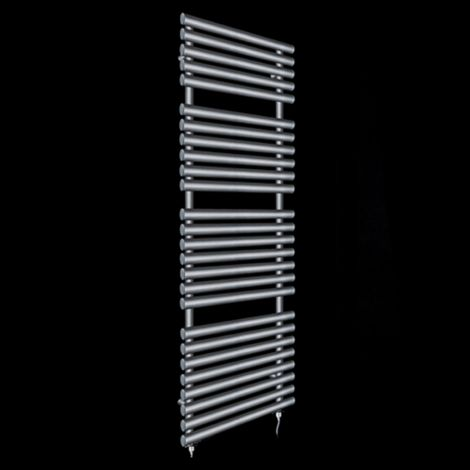 Cirtowelo Dark Grey Tall Large Electric Towel Rail 1580mm high x 520mm wide