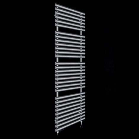Cirtowelo Dark Grey Tall Large Electric Towel Rail 1800mm high x 520mm wide