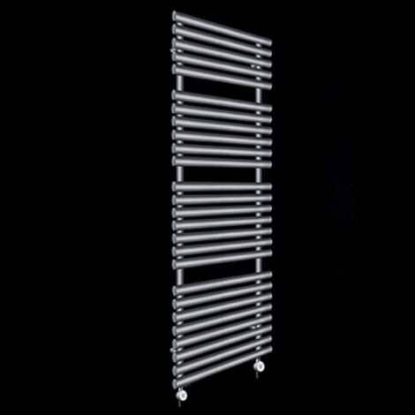 Cirtowelo Dark Grey Tall Large Thermostatic Electric Towel Rail 1580mm high x 520mm wide