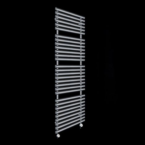 Cirtowelo Dark Grey Tall Large Thermostatic Electric Towel Rail 1800mm high x 520mm wide