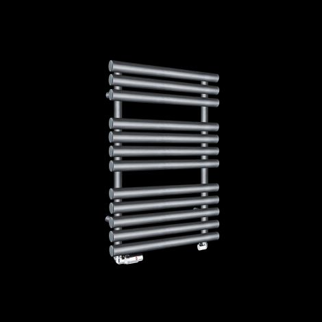 Cirtowelo Dark Grey Compact Heated Towel Rail 755mm high x 520mm wide