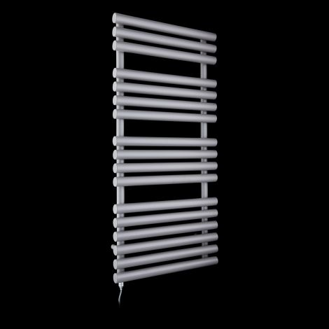 Cirtowelo Light Grey Electric Towel Rail 1085mm high x 520mm wide