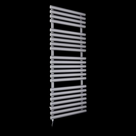 Cirtowelo Light Grey Large Electric Towel Rail 1360mm high x 520mm wide