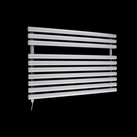 Cirtowelo Light Grey Short Low Level Electric Towel Rail 600mm high x 900mm wide