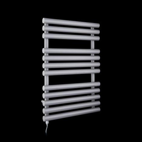 Cirtowelo Light Grey Compact Electric Towel Rail 755mm high x 520mm wide
