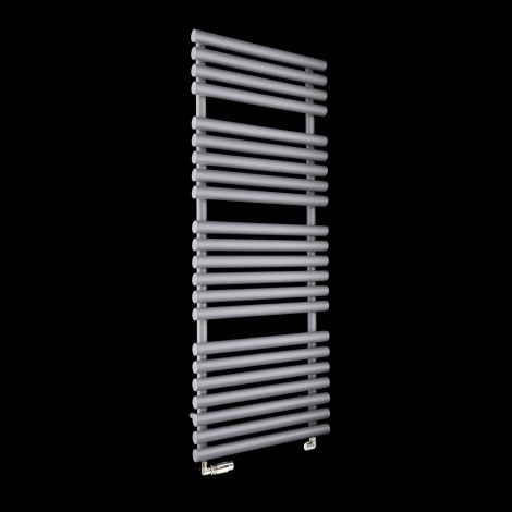 Cirtowelo Light Grey Large Heated Towel Rail 1360mm high x 520mm wide