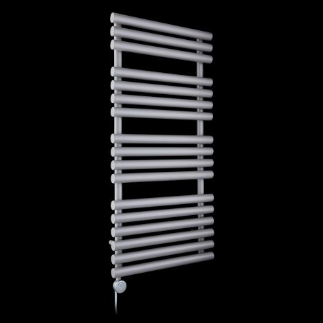 Cirtowelo Light Grey Thermostatic Electric Towel Rail 1085mm high x 520mm wide