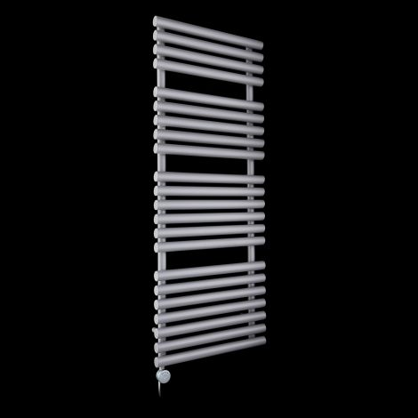 Cirtowelo Light Grey Large Thermostatic Electric Towel Rail 1360mm high x 520mm wide