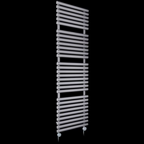 Cirtowelo Light Grey Tall Large Thermostatic Electric Towel Rail 1800mm high x 520mm wide