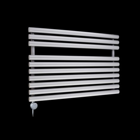 Cirtowelo Light Grey Short Low Level Thermostatic Electric Towel Rail 600mm high x 900mm wide