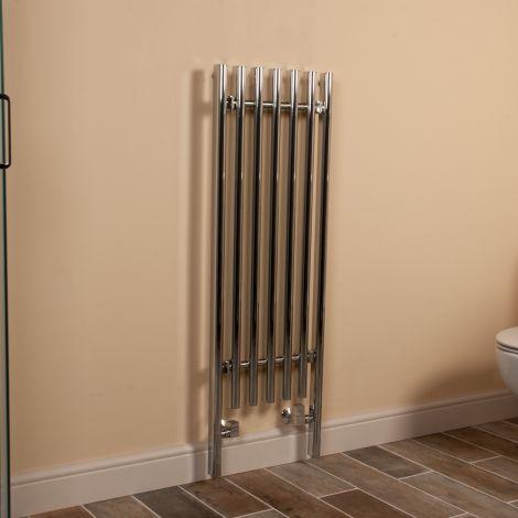 Colima Slimline Designer Heated Towel Rail - 1200mm high x 400mm wide