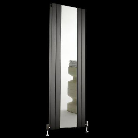 Empoli Anthracite Tall Designer Mirror Radiator 1800mm high x 609mm wide