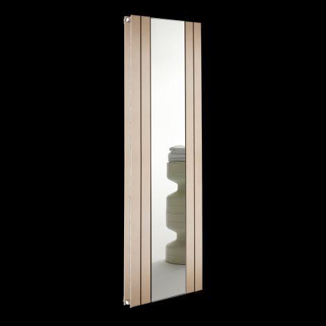 Empoli Sand Brown Tall Designer Mirror Radiator 1800mm high x 609mm wide