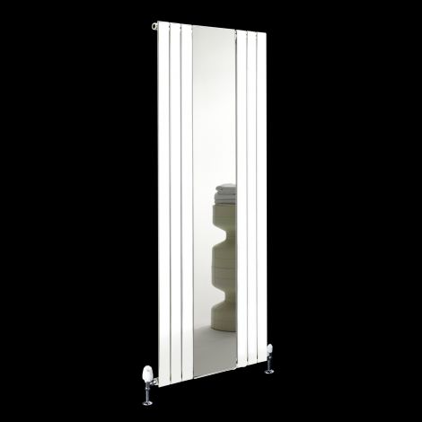 Empoli White Tall Designer Mirror Radiator 1800mm high x 750mm wide