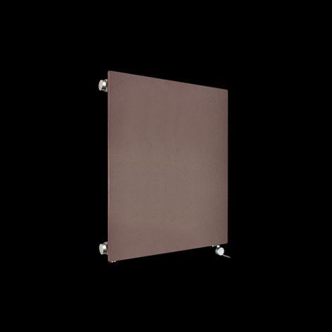 Fascia Chocolate Brown Flat Panel Electric Radiator 600mm high x 520mm wide