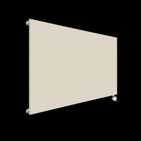 Fascia Light Cream Flat Panel Electric Radiator 600mm high x 1045mm wide