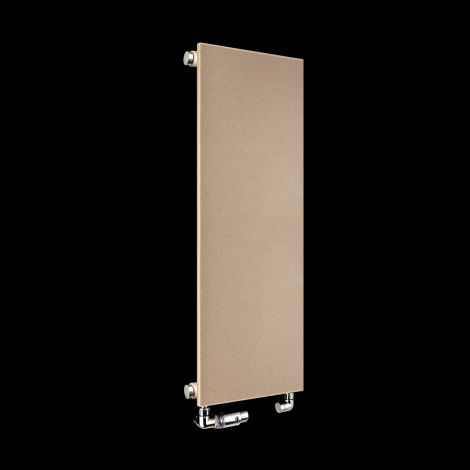 Fascia Sand Brown Thin Flat Panel Designer Radiator 900mm high x 370mm wide
