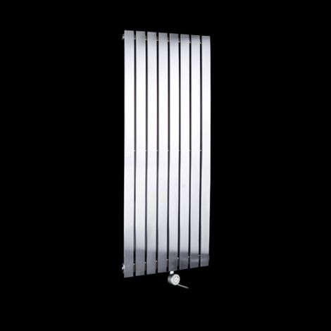Flasteel Brushed Steel Slim Ecodesign Electric Radiator 1000mm high x 390mm wide