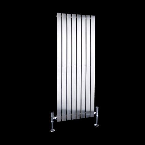 Flasteel Brushed Steel Single Panel Radiator 1000mm high x 390mm wide