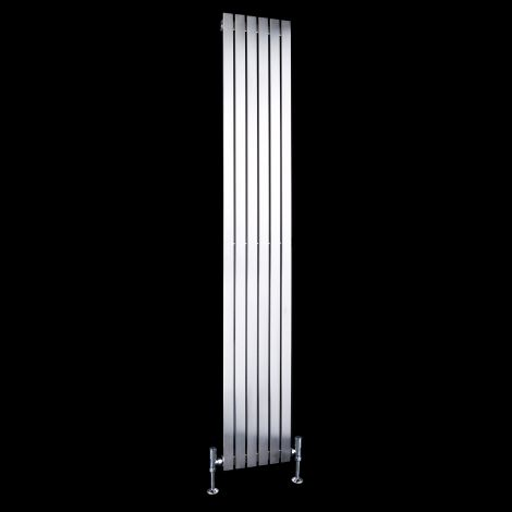 Flasteel Brushed Steel Single Panel Radiator 1800mm high x 290mm wide