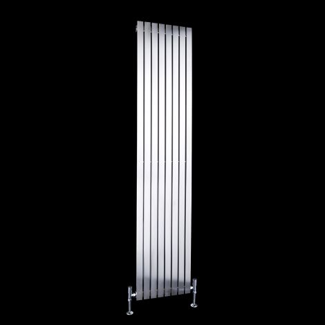Flasteel Brushed Steel Single Panel Radiator 1800mm high x 390mm wide
