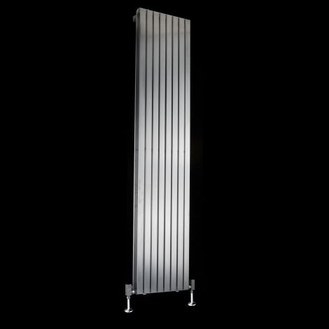 Flasteel Brushed Steel Double Panel Radiator 1800mm high x 390mm wide