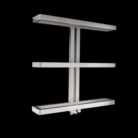 EX-DISPLAY Gallant Brushed Stainless Steel Heated Towel Rail 750mm high x 780mm wide