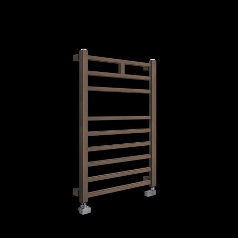 Lineo Chocolate Brown Heated Towel Rail 800mm high x 500mm wide