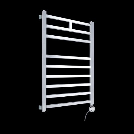 Lineo Chrome Thermostatic Electric Towel Rail 800mm high x 500mm wide