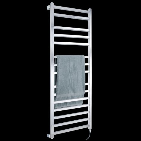 Lineo Chrome Electric Towel Rail 1400mm high x 500mm wide