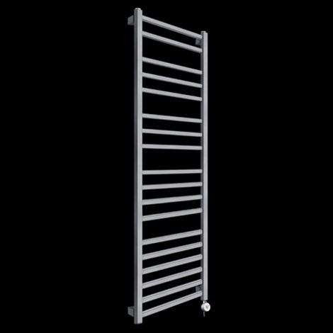 Lineo Dark Grey Tall Thermostatic Electric Towel Rail 1700mm high x 500mm wide