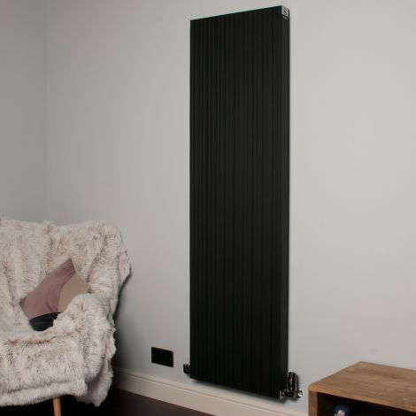 Motif Black Vertical High Output Designer Radiator - 1750mm high x 500mm wide
