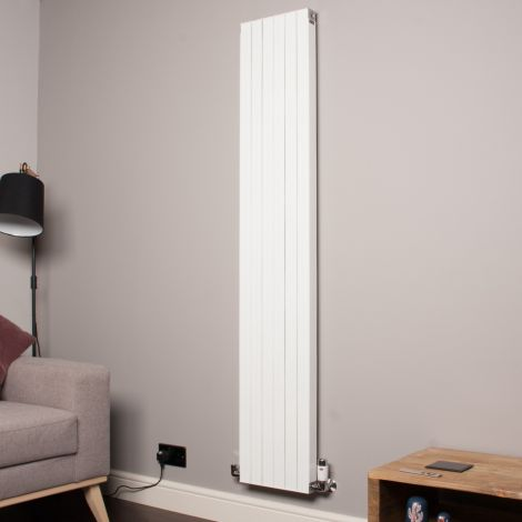 Motif White Vertical Tall Thin Designer Radiator - 1750mm high x 300mm wide