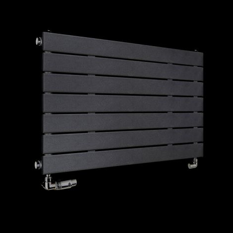 Muro Anthracite Single Panel Radiator 900mm high x 520mm wide