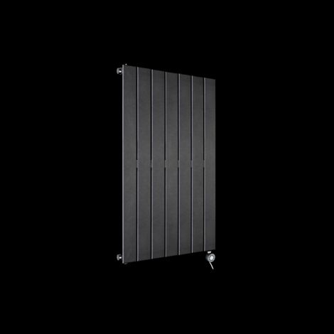 Muro Anthracite Single Panel Electric Radiator 900mm high x 520mm wide