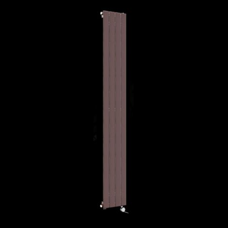 Muro Chocolate Brown Tall Ultra Thin Single Panel Electric Radiator 1800mm high x 295mm wide