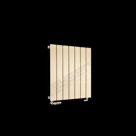Muro Light Cream Small Single Panel Radiator 600mm high x 520mm wide