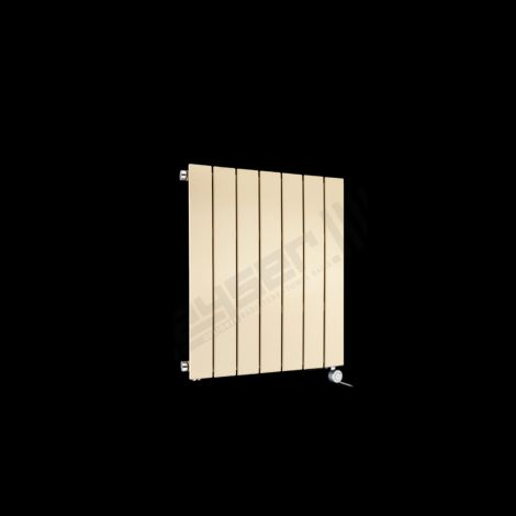 Muro Light Cream Small Compact Single Panel Electric Radiator 600mm high x 520mm wide