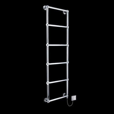 Obelia Chrome Traditional Victorian Electric Towel Rail - 1548mm high x 500mm wide