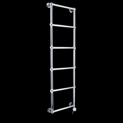 Obelia Chrome Traditional Victorian Thermostatic Electric Towel Rail - 1548mm high x 500mm wide