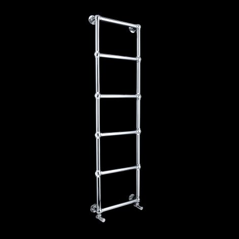 Obelia Chrome Traditional Victorian Heated Towel Rail - 1548mm high x 500mm wide