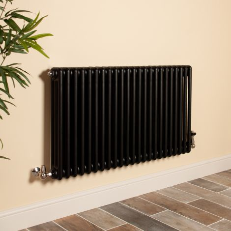 Old Style Matt Anthracite 3 Column Radiator 600mm high x 1059mm wide,Small Image,Thumbnail Image,Thumbnail Image,Small Image,Thumbnail Image,Small Image