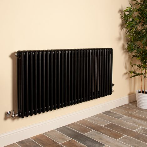 Old Style Matt Anthracite 3 Column Radiator 600mm high x 1329mm wide,Small Image,Thumbnail Image,Thumbnail Image,Small Image,Thumbnail Image,Small Image