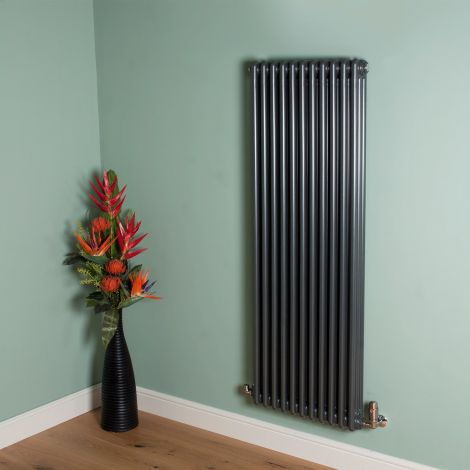 Old Style 7000 BTU Gunmetal Grey 3 Column Radiator 1500mm high x 519mm wide,Small Image,Thumbnail Image,Small Image,Thumbnail Image,Thumbnail Image,Small Image