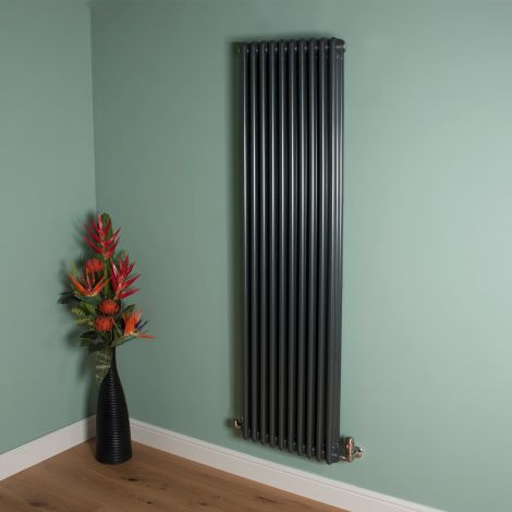 Old Style 8000 BTU Gunmetal Grey 3 Column Radiator 1800mm high x 474mm wide,Small Image,Thumbnail Image,Small Image,Thumbnail Image,Thumbnail Image,Small Image