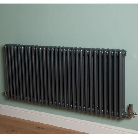 Old Style High Output Gunmetal Grey 3 Column Radiator 600mm high x 1329mm wide,Small Image,Thumbnail Image,Small Image,Thumbnail Image,Thumbnail Image,Small Image