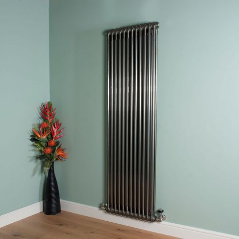 Old Style High Output Raw Lacquered 2 Column Radiator 1800mm high x 564mm wide