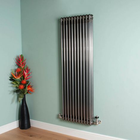 Old Style 7000 BTU Raw Lacquered 3 Column Radiator 1500mm high x 519mm wide,Small Image,Thumbnail Image,Small Image,Thumbnail Image,Thumbnail Image,Small Image