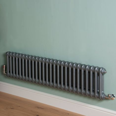 Old Style Low Level Mid Grey 2 Column Radiator 300mm high x 1194mm wide,Small Image,Small Image,Small Image,Small Image,Small Image,Small Image